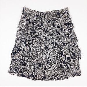 🌟3/$30🌟Layered ruffle cascade skirt black white